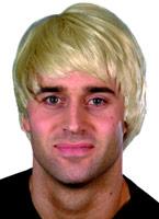 Guy perruque Blonde Perruque Retro