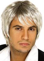 Bande de garçon perruque Blonde brune Perruque Retro