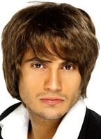 Garçon bande perruque brune Perruque Retro