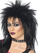 Rock Diva perruque noir Perruque Retro