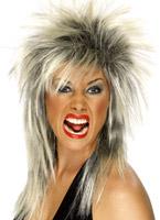 Black et rock Diva perruque Blonde Perruque Retro
