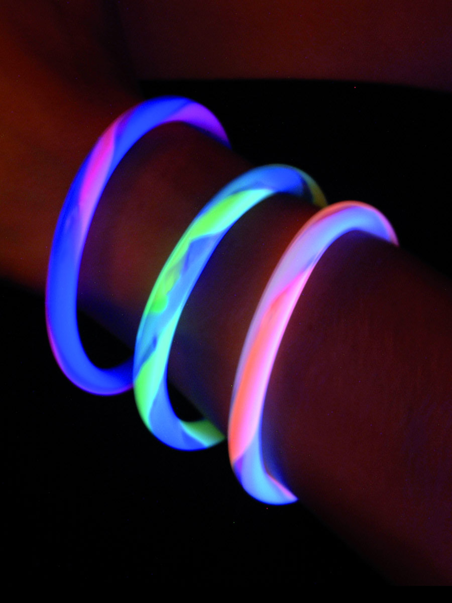 UV & NEON Multi couleur UV sensibles Bracelets