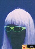 Brillent dans les noirs blancs lunettes de soleil UV & NEON