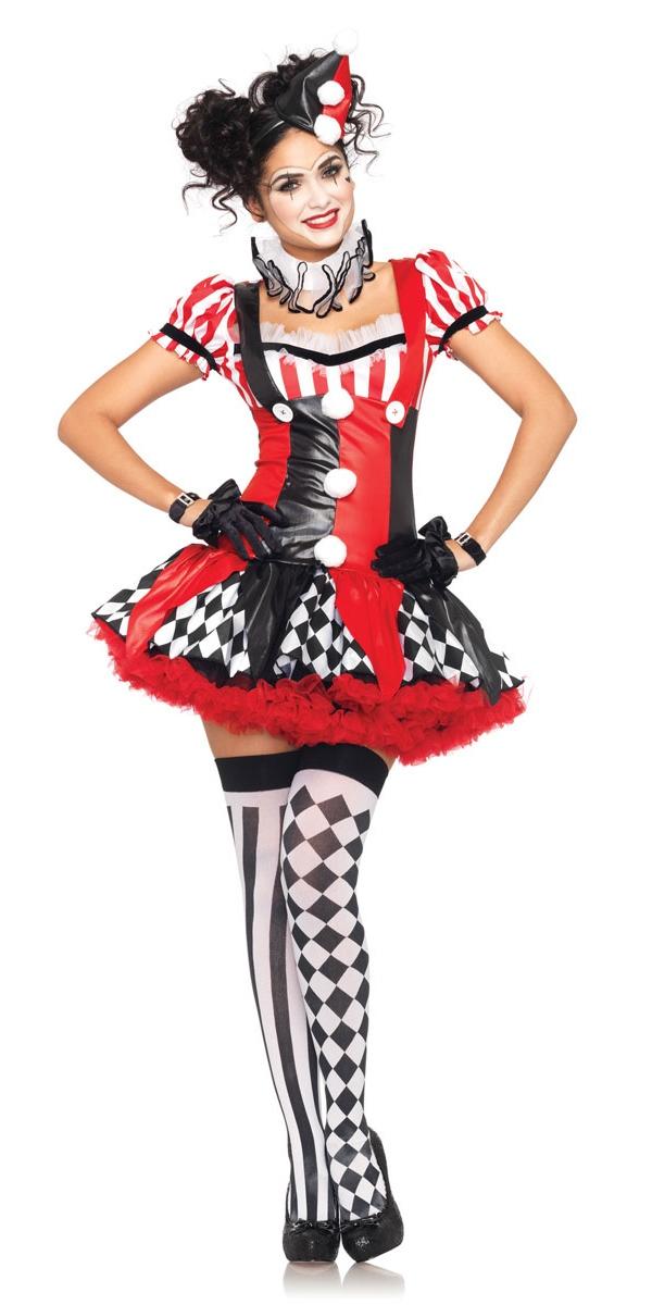 Déguisement Cirque Costume de Clown Arlequin