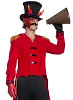 Costume de cirque sinistre anneau crapuleux Leader Déguisement Cirque