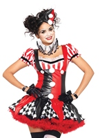 Costume de Clown Arlequin Déguisement Cirque