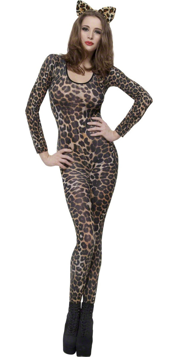 Justaucorps & culottes Body imprimé léopard brun