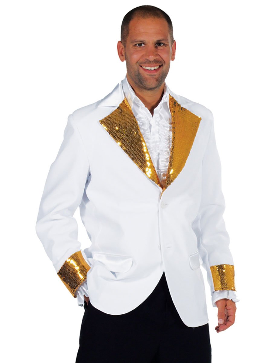 Costumes Cabaret Cabaret Bling Jacket White