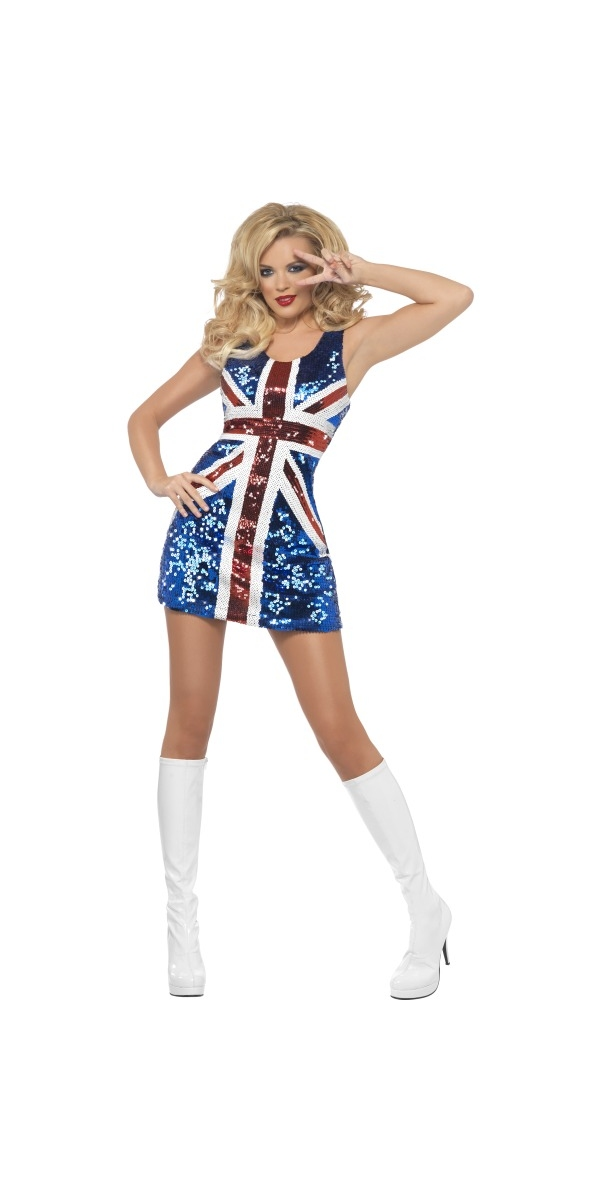 Spice Girl Costume Tous ce Costume Glitters règle Britannia