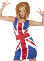 Costume de Ginger Spice Girl Union Jack Spice Girl Costume