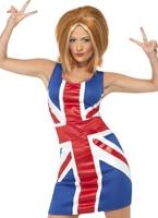 Costume de Ginger Spice Girl Union Jack Spice Girl Costume