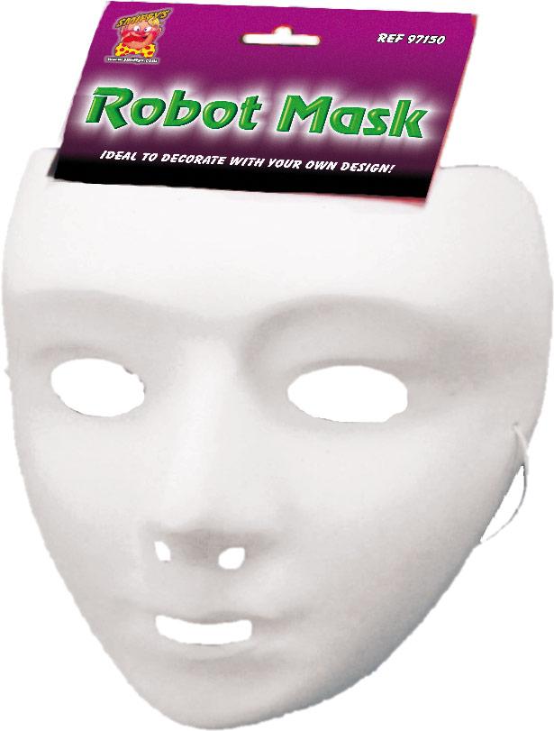 Masque Adulte Robot masque blanc