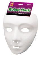 Robot masque blanc Masque Adulte