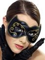 Masque Adulte Persan Eyemask noir et or