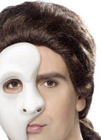 Demi visage masque fantôme Pvc Masque Adulte