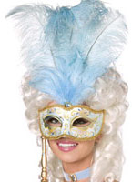 Baroque masque or bleu Masque Adulte