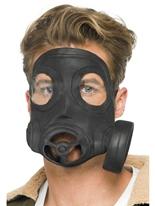 Masque à gaz caoutchouc noir Masque Adulte
