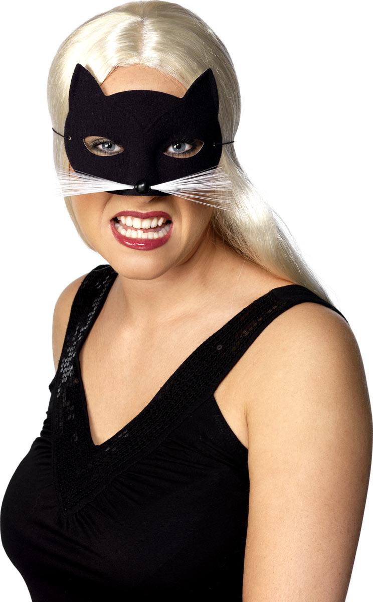 Masque Animaux Cat Eye Mask noir velouté