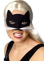 Cat Eye Mask noir velouté Masque Animaux