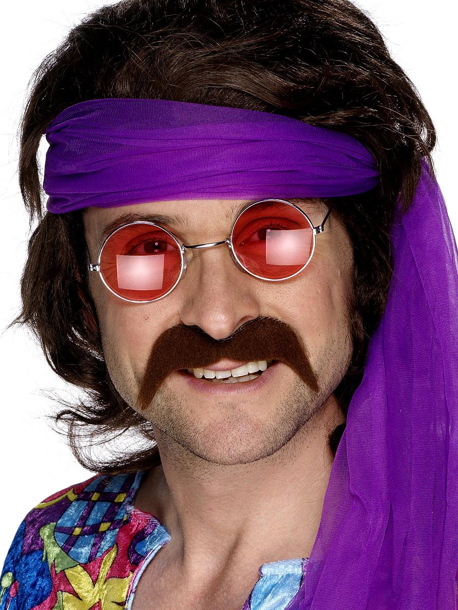 Barbes & Moustache 70 s auto adhésif Tash Brown