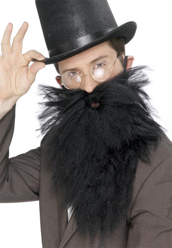 Barbes & Moustache Longue barbe et Tash noir