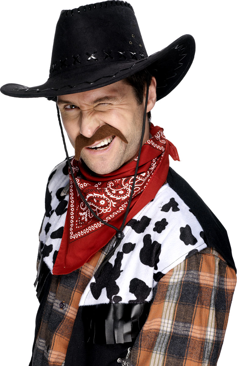 Barbes & Moustache Cow-Boy Tash Brown