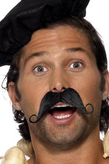 Barbes & Moustache Français noir Moustache