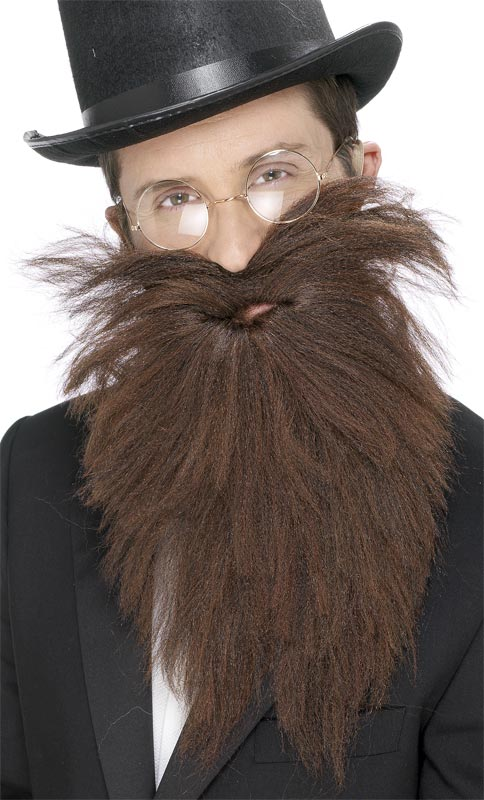 Barbes & Moustache Longue barbe et Tash brun Mix