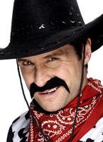 Cow-Boy Tash noir Barbes & Moustache