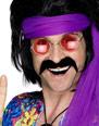 Barbes & Moustache 70 s auto adhésif noir de Tash