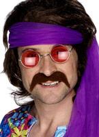 70 s auto adhésif Tash Brown Barbes & Moustache