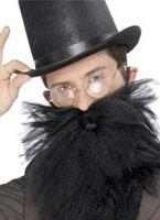 Longue barbe et Tash noir Barbes & Moustache