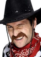 Cow-Boy Tash Brown Barbes & Moustache