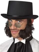 Favoris de côtelettes de mouton psycho brun foncé Barbes & Moustache
