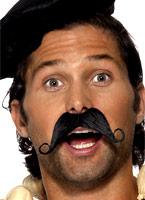 Français noir Moustache Barbes & Moustache