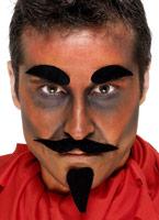 Diable noir Set Barbes & Moustache