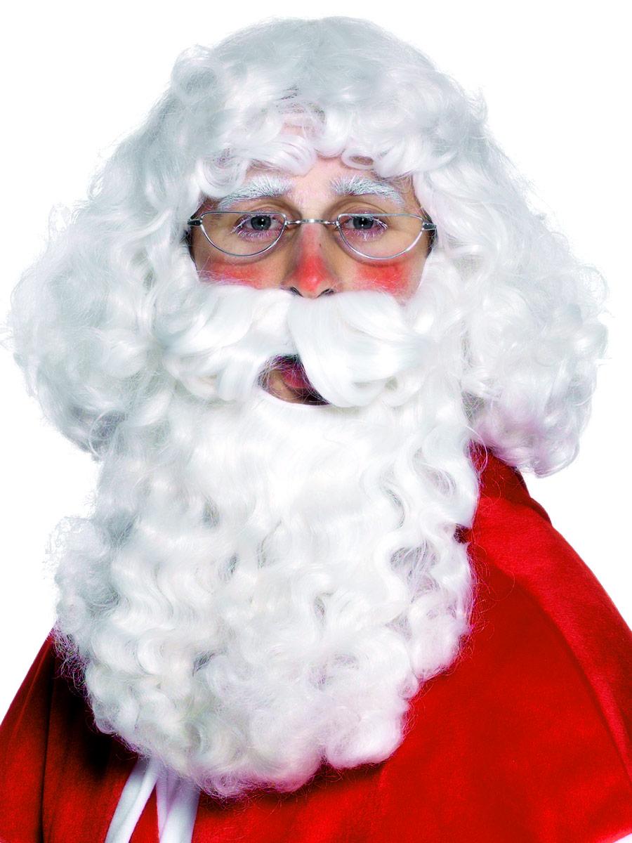 Perruque Pere Noël Santa perruque blanche