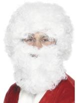 Santa barbe et perruque Set Perruque Pere Noël