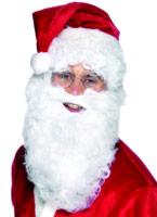Barbe de Santa Deluxe en Nylon blanc Perruque Pere Noël