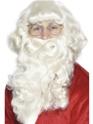Perruque Pere Noël Luxe Santa barbe