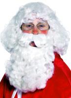 Santa perruque blanche Perruque Pere Noël