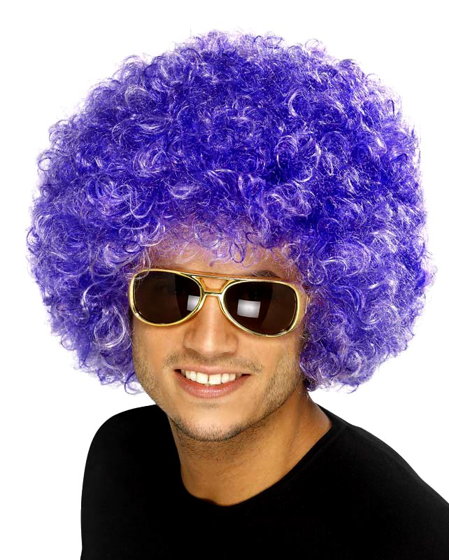 Perruque Afro Funky perruque Afro de pourpre