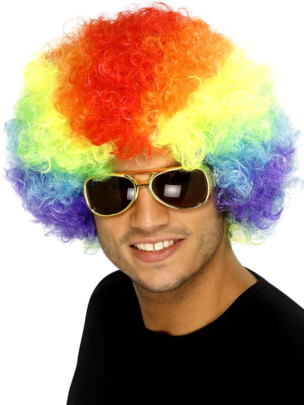 Perruque Afro Funky Rainbow Afro perruque
