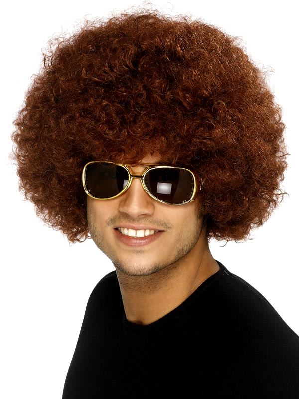 Perruque Afro Funky perruque brune Afro
