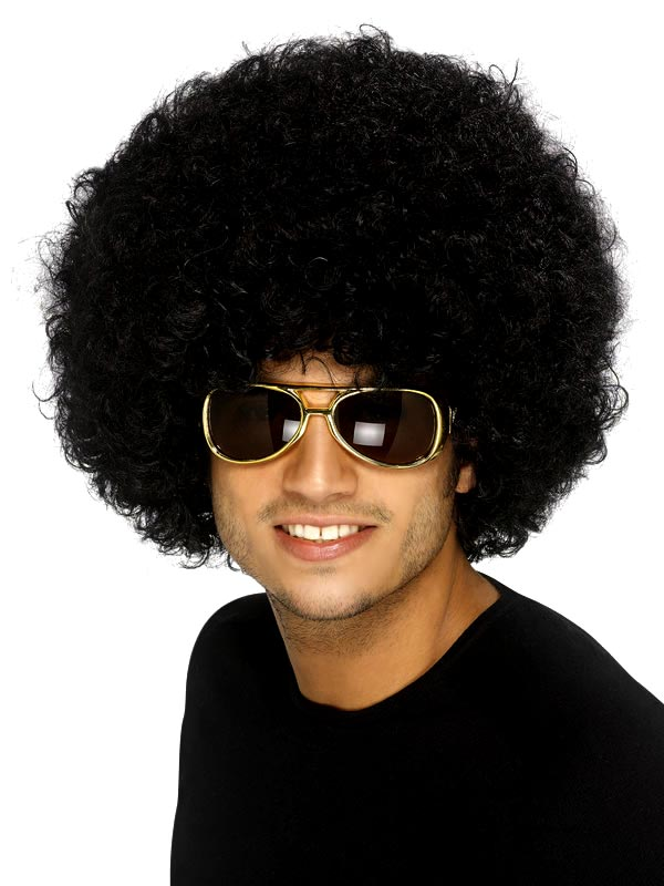 Perruque Afro Funky perruque noire Afro