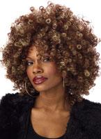 Fine Foxy BOF brune et Blonde perruque Perruque Afro