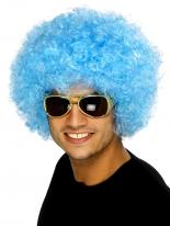 Funky perruque bleu Afro Perruque Afro