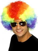 Funky Rainbow Afro perruque Perruque Afro