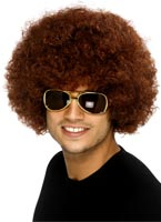 Funky perruque brune Afro Perruque Afro