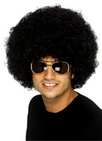 Funky perruque noire Afro Perruque Afro